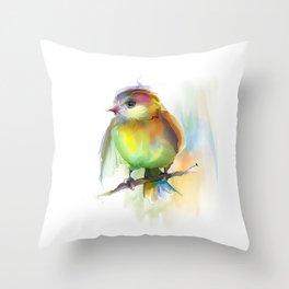 singing birdie Throw Pillow