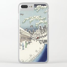 A walk with Hiroshige Clear iPhone Case