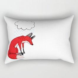 Sad fox Rectangular Pillow