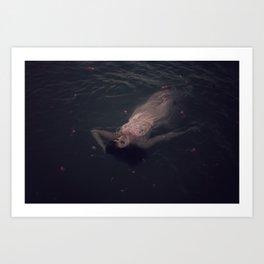 beauty in the water Art Print