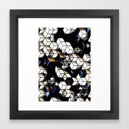 Comic Cubes Framed Art Print