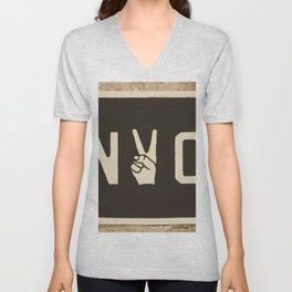 NYC Peace Sign (Color) Unisex V-Neck