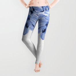 Elegant Blue Flowers Design Leggings