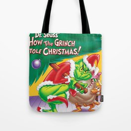 stole christmas tree grinchs 2020 Tote Bag