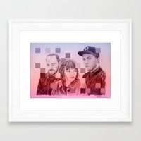 chvrches Framed Art Prints featuring CHVRCHES by Cody Rayn