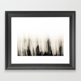 Trees By the Sea Abstract Framed Art Print