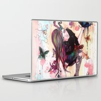 sandman Laptop & iPad Skins featuring Delirium, The Sandman by Anguiano Art