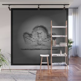 Flying hourglass Wall Mural