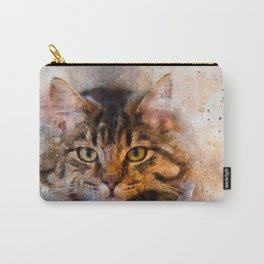 Watercolour cat portrait Carry-All Pouch
