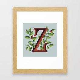 Letter 'Z' is for Ziziphus Framed Art Print