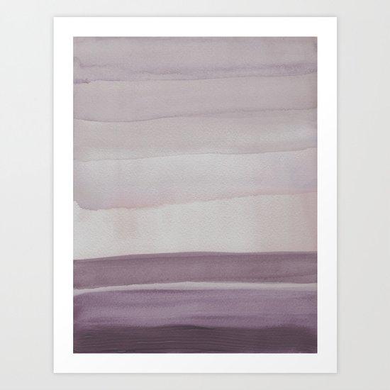 Purple Fields Art Print