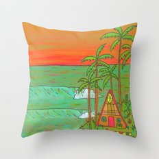 A Frame Dream Home Surf Paradise Throw Pillow