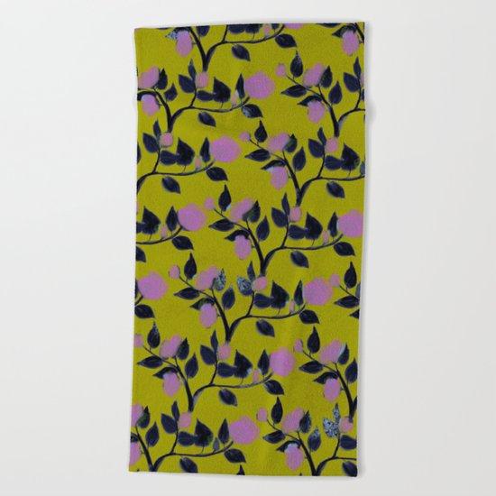 Rose VineAngle Beach Towel