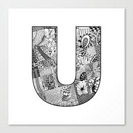 Cutout Letter U Canvas Print