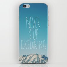 Never Stop Exploring: Mount Rainier iPhone & iPod Skin