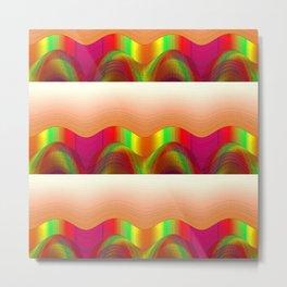 COLOR WAVES OF SOUND Metal Print