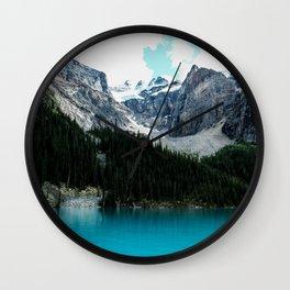 Moraine lake Wander (landscape) Wall Clock