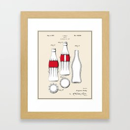 Soda Bottle Patent - Colour Framed Art Print