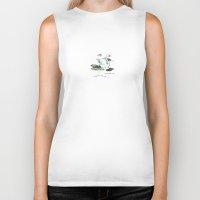 swan Biker Tanks featuring Swan by monica.s.