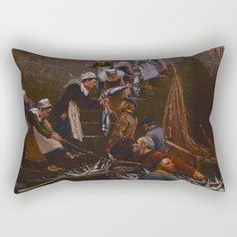 Alfred Guillou - Debarquement du thon a Concarneau Rectangular Pillow