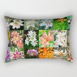 Lily Montage Rectangular Pillow
