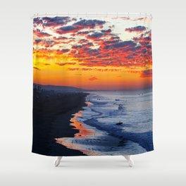 Sunrise Huntington Beach Pier   12/12/13 Shower Curtain