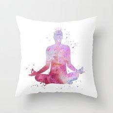 Yoga - Lotus pose  Throw Pillow