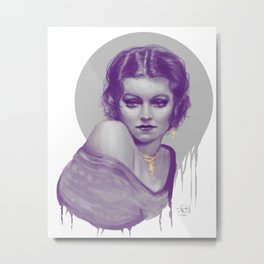 Purple Vintage Metal Print