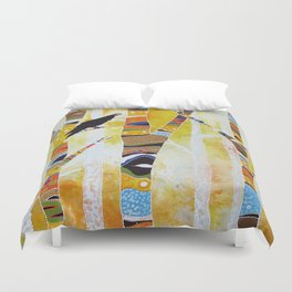 Raven Hanging the Sun Duvet Cover