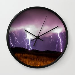 Threes A Crowd Wall Clock