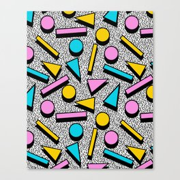 Dig It - memphis throwback retro neon cool rad pattern dorm college hipster neon squiggle abstract Canvas Print