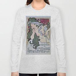 March April 1896 20th Salon des 100 Art Expo Paris France Long Sleeve T-shirt