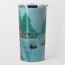 A smoky day at the Sugar Bowl--Hupa Indian Travel Mug