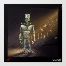 FrankenBoy... Blurred... Canvas Print
