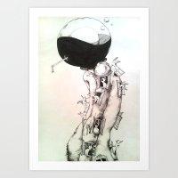 human Art Prints featuring Human by Zina Nedelcheva