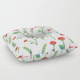 Lush Poppies Floor Pillow