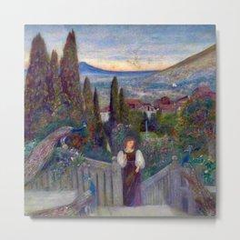 """Peacock Garden"" by Marie Spartali Stillman (1900)  Metal Print"