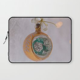 Vintage Christmas Ball With Lace and Lights Laptop Sleeve
