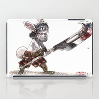 bouletcorp iPad Cases featuring Lapin Barbare by Bouletcorp