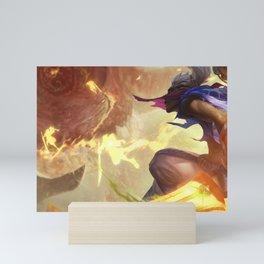 Sandstorm Ekko League of Legends Mini Art Print