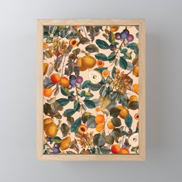 Vintage Fruit Pattern IX Framed Mini Art Print