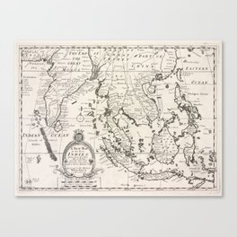 Vintage Map of Indonesia (1700) Canvas Print