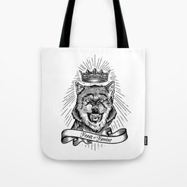"""""""Feast Or Famine"""" – Crowned Wolf Tote Bag"""
