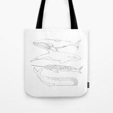 whale, i love you Tote Bag