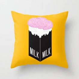 Brainmilk Throw Pillow