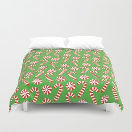 candy canes and peppermints Duvet Cover