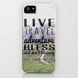 Jack Kerouac- Mountains iPhone Case