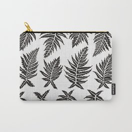 Inked Ferns – Black Palette Carry-All Pouch