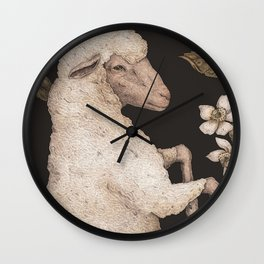 The Sheep and Blackberries Wall Clock
