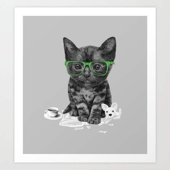 I Love Reading Art Print